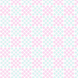 Seamless geometric tiles dotted pattern Stock Image