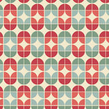 Seamless geometric tiles pattern in vintage style. Stock Photo