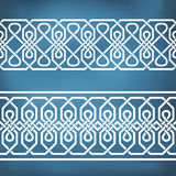 Seamless geometric tiling borders Royalty Free Stock Image