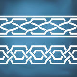 Seamless geometric tiling borders Royalty Free Stock Images