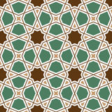 Seamless geometric tiling pattern Stock Images