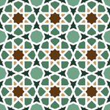 Seamless geometric tiling pattern Royalty Free Stock Photography
