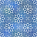 Seamless geometric tiling pattern Royalty Free Stock Photos