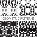 Seamless geometric tiling patterns Royalty Free Stock Photos