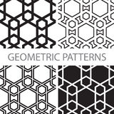 Seamless geometric tiling patterns Stock Photography