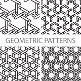 Seamless geometric tiling patterns Stock Image