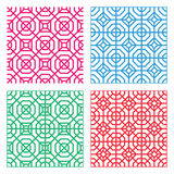 Seamless Geometric tracery pattern in Indian style Stock Photo