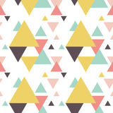 Seamless geometric triangle pattern. Seamless geometric pattern. Abstract triangle geometrical background Vector illustration. geometric mosaic art abstract with stock illustration