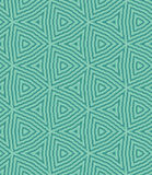 Seamless geometric triangle pattern of caribbean green color Stock Photos