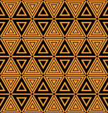 Seamless geometric triangles and diamonds pattern. Royalty Free Stock Images