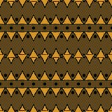Seamless geometric tribal ethnic pattern of triangles and dots. Seamless geometric tribal pattern of triangles and dots. Abstract ethnic vector print. Black Stock Images