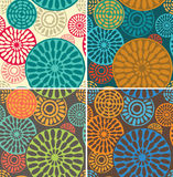 Seamless geometric, tribal vintage patterns Stock Images
