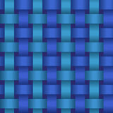 Seamless geometric twisted pattern Royalty Free Stock Images