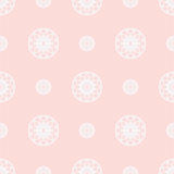 Seamless geometric vector background in  pink colors Royalty Free Stock Photo