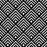 Seamless Geometric Vector Background, Simple Black And White Str Royalty Free Stock Images