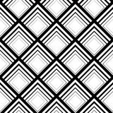 Seamless geometric vector background, simple black and white str Stock Photography