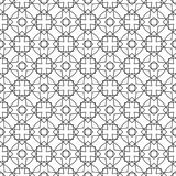 Seamless geometric vector background, simple black and white Royalty Free Stock Photos