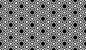 Geometric seamless pattern in black and white Royalty Free Stock Photography