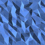 Seamless Background - Blue Triangles. Seamless geometric vector layout with blue triangles Stock Illustration