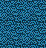 Seamless geometric vector pattern background Stock Image