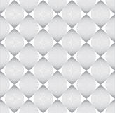 Seamless geometric vector pattern. Gray outline on white background stock illustration