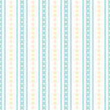 Seamless geometric vertical striped pattern. With flowers. Vector illustration Royalty Free Illustration