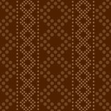 Seamless geometric vertical striped pattern with ornament of pol Royalty Free Stock Photo