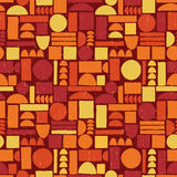 Seamless geometric vintage pattern. Royalty Free Stock Images