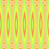 Seamless geometric vintage retro pattern design vector background with colorful circle and ellipse shapes yellow orange. Green Stock Images
