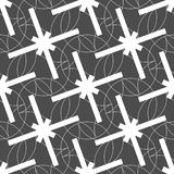 Seamless Geometric White Abstract Pattern on Colorful Background Royalty Free Stock Photo