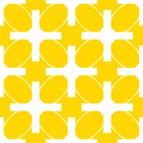 Seamless Geometric White Abstract Pattern on Colorful Background Stock Photos