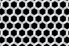Seamless geometric white texture Hexagon design pattern. For your work Royalty Free Stock Photography