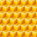 Seamless geometric yellow texture cube design pattern. Seamless geometric yellow texture for design Stock Image