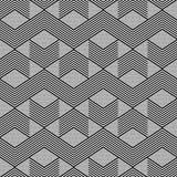 Seamless geometric zig zag pattern. Royalty Free Stock Photo
