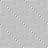 Seamless geometric zigzag pattern. Vector illustration Stock Illustration