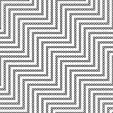Seamless geometric  zigzag pattern Royalty Free Stock Photos