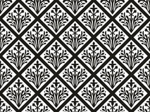 Seamless geometrical gothic vector floral ornament Royalty Free Stock Photography