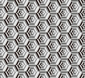 Seamless geometrical hexagon pattern. Background Royalty Free Stock Images