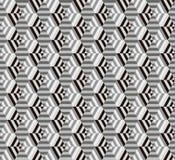 Seamless geometrical hexagon pattern. Background Vector Illustration