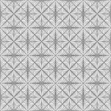 Seamless Geometrical Interlaced Flower Pattern. On white background Stock Images