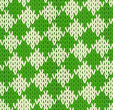 Seamless geometrical knitted pattern Stock Photography