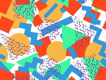 Seamless geometrical memphis pattern Stock Images
