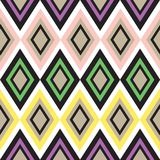 Seamless geometrical pattern. Retro color seamless geometric background Stock Photos