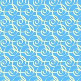 Seamless geometrical pattern. In blue Royalty Free Stock Photo