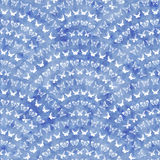 Seamless geometrical pattern with blue watercolor texture Stock Image