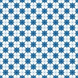 Blue and white starry seamless pattern royalty free stock photography
