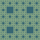 Seamless geometrical pattern. Seamless pattern of self-similar square constructions. Based on Sierpinski carpet, five levels of similarity royalty free illustration