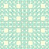 Seamless geometrical pattern. Seamless pattern of self-similar square constructions. Based on Sierpinski carpet, three levels of similarity stock illustration