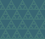 Seamless geometrical pattern. Seamless pattern of self-similar triangle constructions. Triangular fractal, eight levels of similarity stock illustration