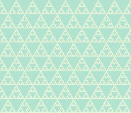 Seamless geometrical pattern. Seamless pattern of self-similar triangle constructions. Triangular fractal, four levels of similarity vector illustration